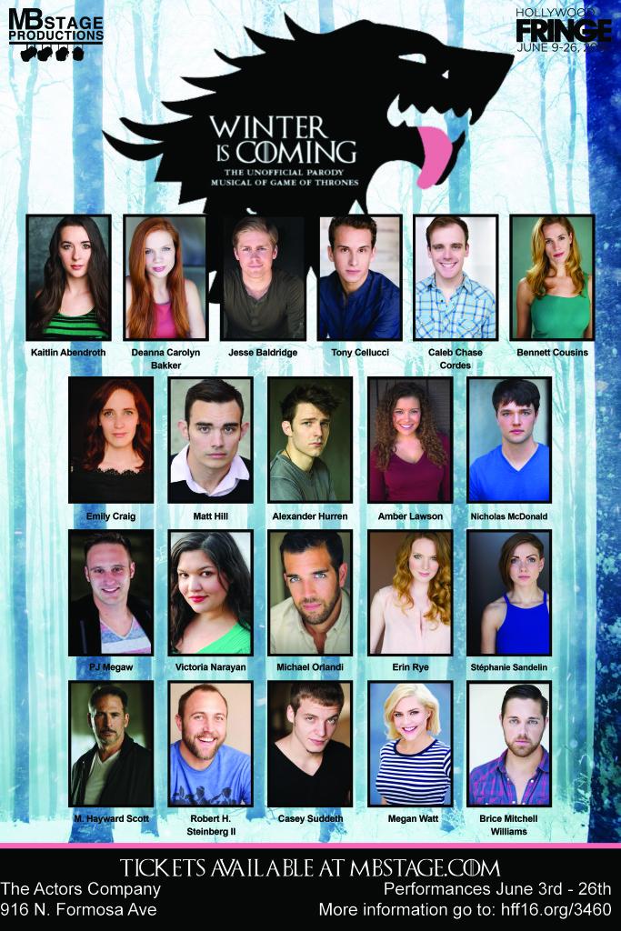 Full Cast Blank Poster